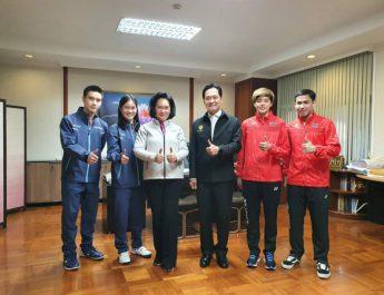 นายกสมาคมกีฬาแบดมินตันฯให้สัมภาษณ์พิเศษ ที่ทำเนียบรัฐบาล เกี่ยวกับที่ประเทศไทยได้เป็นเจ้าภาพจัดการแข่งขันแบดมินตันระดับโลก 3 รายการใหญ่